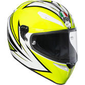 AGV Veloce S Vitali 2016 Full Face Motorcycle Helmet XS Yellow White