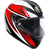 AGV Veloce S Feroce Full Face Motorcycle Helmet 2XL Black Red