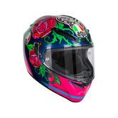 AGV Veloce S Replica Salom 2016 Full Face Motorcycle Helmet XS Blue Pink