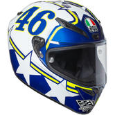 AGV Veloce S Ranch Full Face Motorcycle Helmet 2XL Blue White Yellow