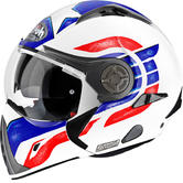 Airoh J 106 Camber Convertible Motorcycle Helmet S Matt White Red Blue