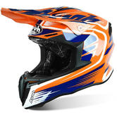 Airoh Twist Mix Motocross Helmet XL Orange Blue White