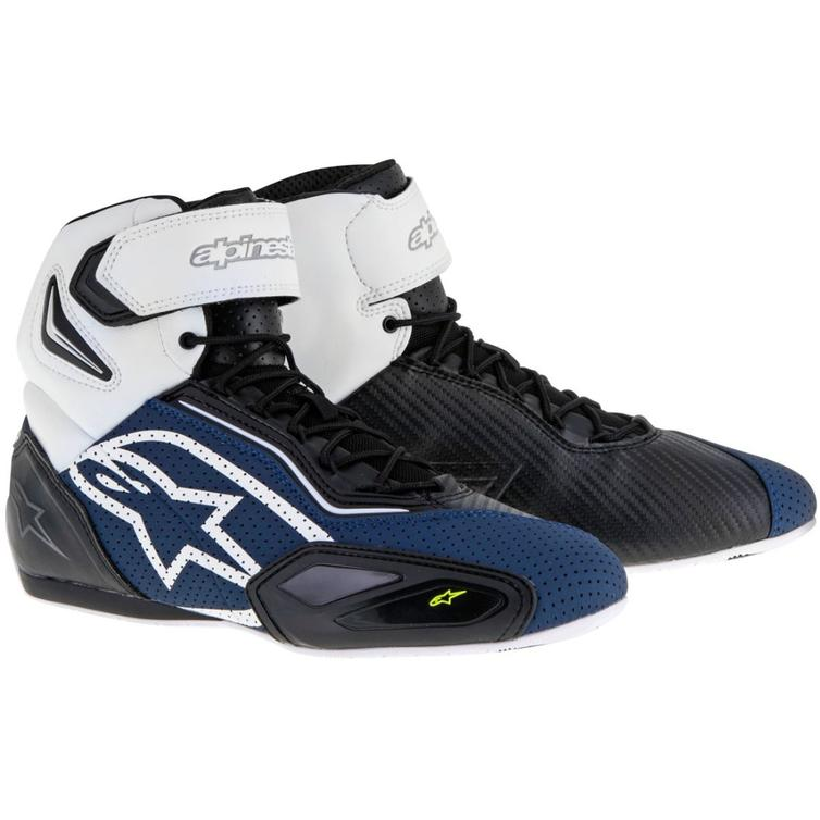 Alpinestars Faster 2 Motorcycle Boots 38 Black Navy White Yellow