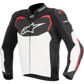 Alpinestars GP Pro Leather Motorcycle Jacket 48 Black White Red (UK 38)