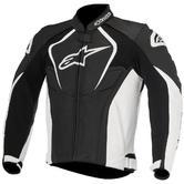 Alpinestars Jaws Leather Motorcycle Jacket 60 Black White