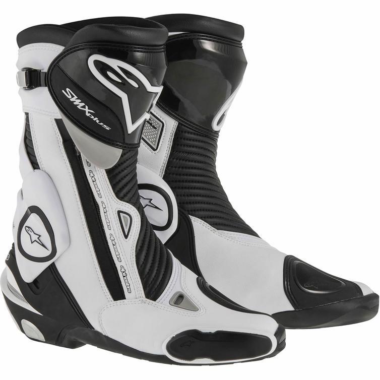 Alpinestars SMX Plus Motorcycle Boots 46 Black White (UK 12)