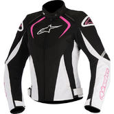 Alpinestars Stella T-Jaws WP Ladies Motorcycle Jacket M Black White Fuchsia