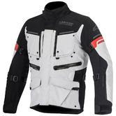 Alpinestars Valparaiso 2 Drystar Motorcycle Jacket 3XL Light Grey Black Red