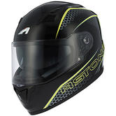 Astone GT900 Pulse Full-Face Motorcycle Helmet XXL Yellow