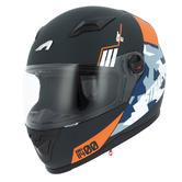 Astone GT2 Army Full-Face Motorcycle Helmet XXL Black Orange