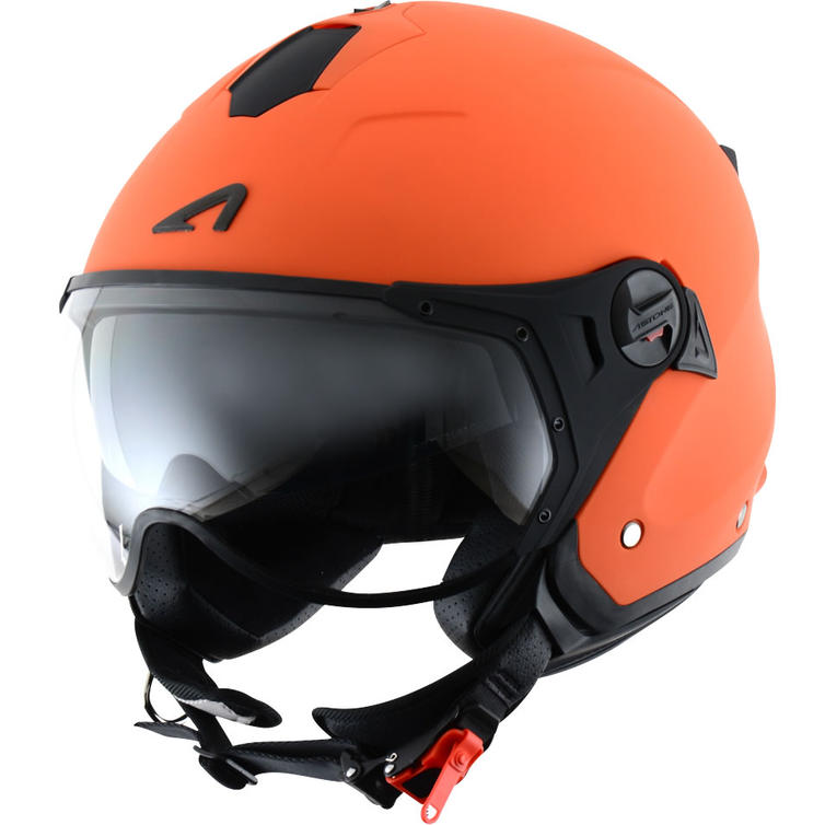 Astone Minijet Sport Open-Face Motorcycle Helmet XXL Orange