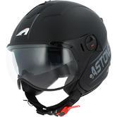 Astone Minijet Sport Open-Face Motorcycle Helmet XXL Black Grey
