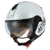 Astone Minijet Sport Cooper Open-Face Motorcycle Helmet L White Black