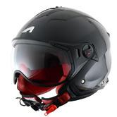 Astone Minijet Sport Open-Face Motorcycle Helmet XS Black