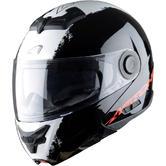 Astone RT800EX Flip-Up Motorcycle Helmet XL Stripes Black