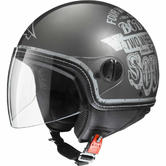 Axo Subway Open Face Motorcycle Helmet XS Grey