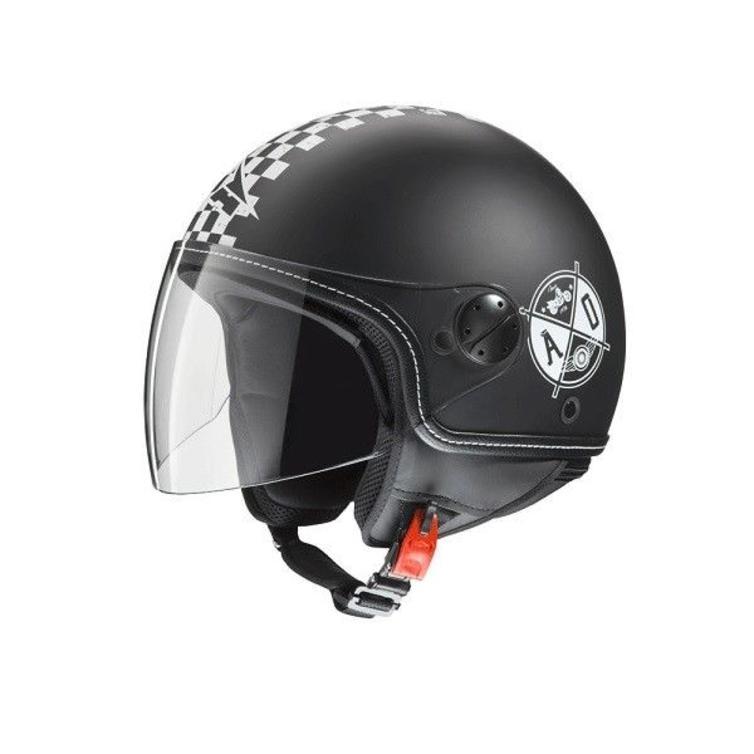 Axo Subway Open Face Motorcycle Helmet XS Matt Black