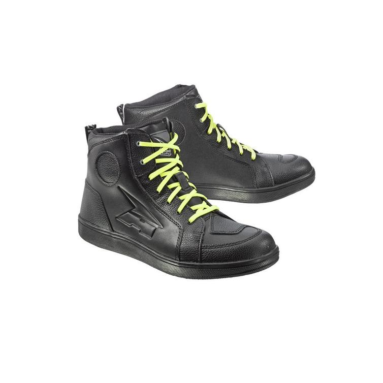 Axo Hipster Leather Motorcycle Boots 45 Black (UK 10.5)
