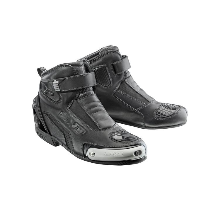 Axo Trigger Leather Motorcycle Boots 45 Black (UK 10.5)