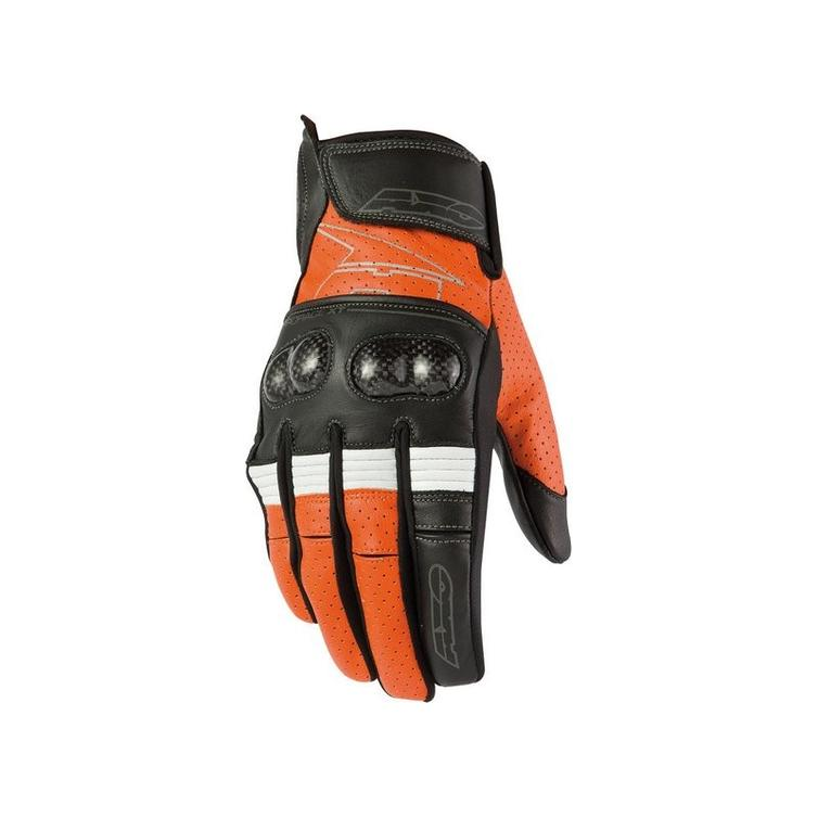 Axo Pro Race XT Leather Motorcycle Gloves XL Orange