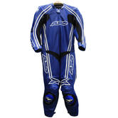 Axo Bullet Leather Motorcycle Suit EU 56 (UK 46) Blue