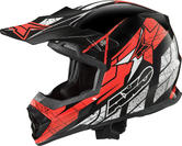 Axo Tribe Motocross Helmet XS Black Red