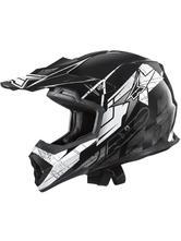 Axo Tribe Motocross Helmet XS Black White