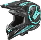 Axo Jump Motocross Helmet M Light Blue Black