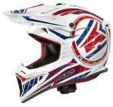 Axo Jump Motocross Helmet M White Blue Red