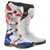 Axo MX One Motocross Boots 39 White Blue Red (UK 4.5)