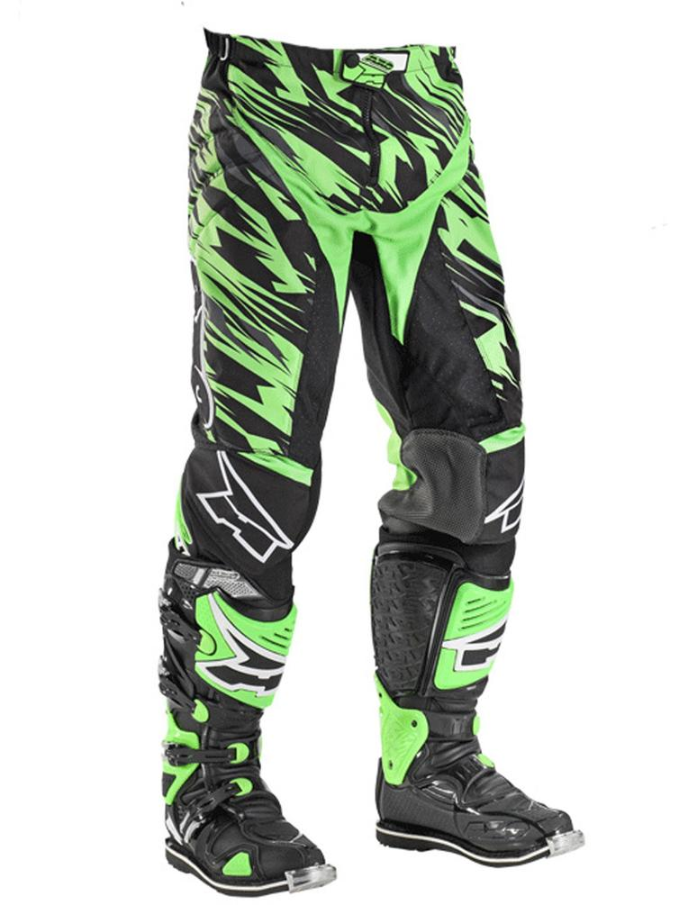 Axo Grunge Motocross Pants 50 Black Green (UK 34)