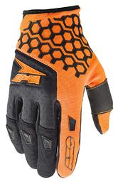 Axo Hexa Motocross Gloves L Orange