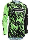 Axo Grunge Motocross Jersey L Black Green Thumbnail 1