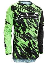 Axo Grunge Motocross Jersey M Black Green
