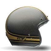 Bell Custom 500 Carbon RSD Bomb Open Face Motorcycle Helmet XS Black Gold