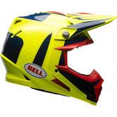 Bell Moto-9 Flex Vice Motocross Helmet XL Blue Yellow