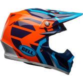 Bell Moto-9 MIPS District Motocross Helmet S Blue Orange