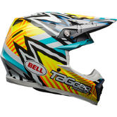 Bell Moto-9 MIPS Tagger Asymetric Motocross Helmet S Yellow Blue White