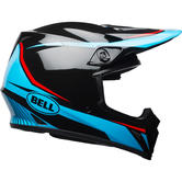Bell MX-9 Mips Torch Motocross Helmet M Black Cyan Red