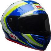 Bell Race Star Sector Motorcycle Helmet M White Hi-Viz Green Blue