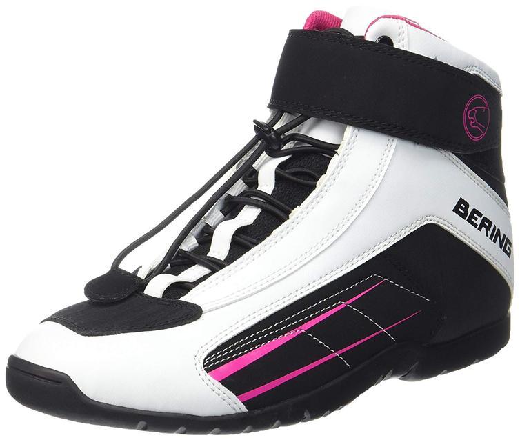 Bering Ladies Azur Motorcycle Boots 37 Fuchsia White Black (UK 4)