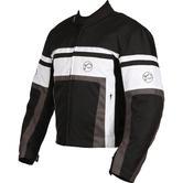 Buffalo Retro Textile Motorcycle Jacket 3XL Black White