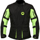Buffalo Siena Ladies Motorcycle Jacket 8 Black Neon Yellow