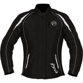 Buffalo Verona Textile Ladies Motorcycle Jacket 4XL Black White