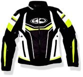 Clover Airblade 3 Ladies Motorcycle Jacket XS Black White Yellow