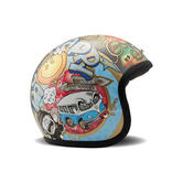 DMD Vintage Open Face Motorcycle Helmet L Woodstock