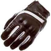 Five Sport City Ladies Leather Motorcycle Gloves XL Brown White