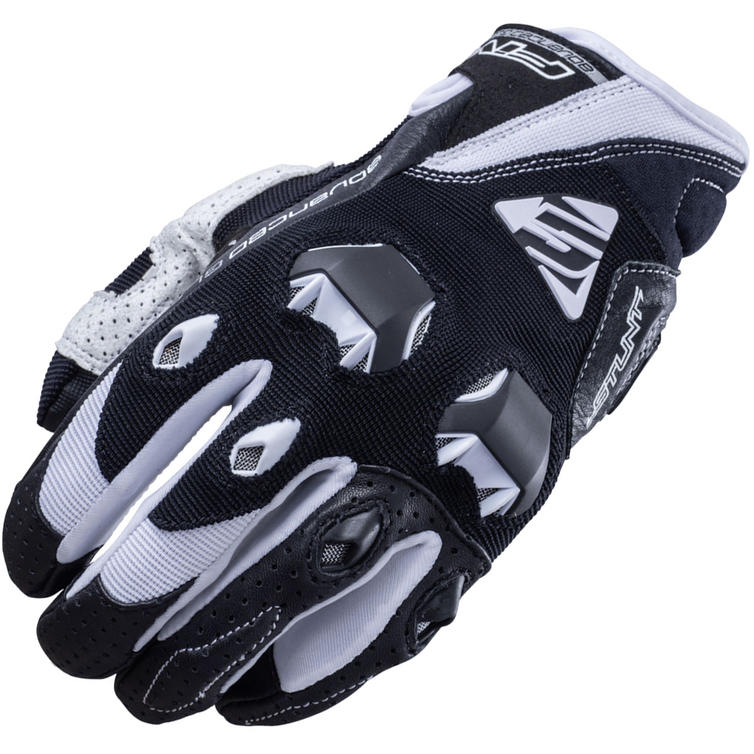 Five Stunt Evo Motorcycle Gloves M Black White