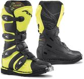 Forma Cougar Youth Leather Motocross Boots 34 Black Neon Yellow (UK 2)