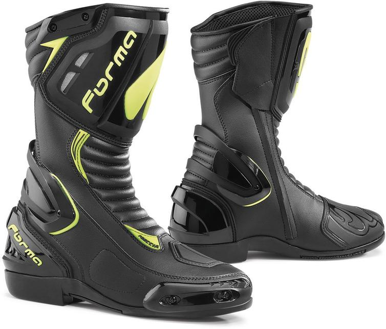 Forma Freccia Motorcycle Boots 37 Black Neon Yellow (UK 3)